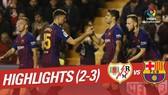 Rayo Vallecano - Barcelona 2-3: Dembele ghi bàn, Suarez lập cú đúp phút 90
