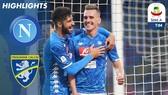 Napoli - Frosinone 4-0: Piotr Zielinski, Adam Ounas, Arkadiusz Milik giành 3 điểm cho HLV Ancelotti