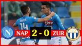 Napoli - FC Zurich 2-0 (chung cuộc 5-1): Simone Verdi, Adam Ounas lập công