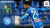 Sassuolo - Napoli 1-1: Berardi mở tỷ số, Insigne gỡ hòa, Napoli kém Juve 18 điểm