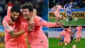 Alaves - Barcelona 0-2: Alena, Suarez lập công, Barca rộng cửa nâng cúp La Liga sớm