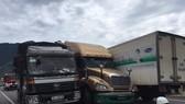 Tai nạn liên hoàn phía Nam đường dẫn hầm Hải Vân