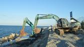 Kè biển Cửa Đại có thể hoàn thành trước mùa mưa bão