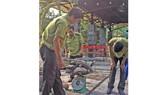 Hạt Kiểm lâm tạm giữ và đưa số rùa về trụ sở đơn vị để chăm sóc chờ kết quả giám định