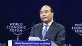 Thủ tướng Nguyễn Xuân Phúc phát biểu tại phiên khai mạc. Ảnh: TTXVN