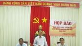 Ông Nguyễn Hữu Giềng phát biểu tại buổi họp báo. Ảnh: NHƯ NGUYỄN