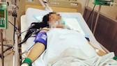 Sản phụ K.T. được chăm sóc ở bệnh viện