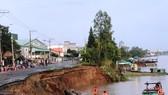 An Giang: Công bố tình huống khẩn cấp sạt lở ở sông Hậu