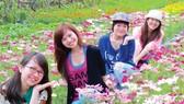 Rộn ràng làng hoa Sa Nhiên