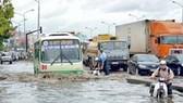 Chưa thực hiện tốt việc chống ngập cho tuyến đường Nguyễn Hữu Cảnh