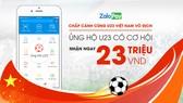 VNG tổ chức lì xì cho Đội tuyển U.23 Việt Nam thông qua tài khoản ZaloPay