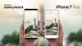 iPhone 7 Plus và Galaxy Note 8 đang cùng cạnh tranh trong phân khúc khoảng 9 triệu
