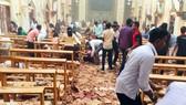 Khung cảnh đổ nát sau vụ đánh bom. Ảnh: Twitter