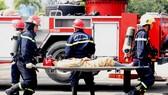 Hơn 900 người tham gia diễn tập chữa cháy, cứu nạn tại Tổng kho xăng dầu Nhà Bè