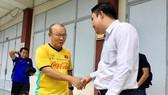 Thầy trò HLV Park Hang-seo đã có những ngày thoải mái ở Bình Dương. Ảnh: ANH TRẦN