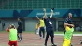 Nỗi thất vọng của đội Syria sau trận đấu. Ảnh: DŨNG PHƯƠNG