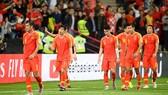 Cầu thủ Trung Quốc thất vọng sau trận thua thảm trước Iran. Ảnh: AFC