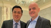 Phó chủ tịch VFF Cao Văn Chóng gặp gỡ Chủ tịch FIFA Gianni Infantino tại Hội nghị