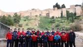 Đội tuyển futsal Việt Nam tại Malaga. Ảnh: Anh Trần