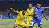 Khánh Hòa đã thắng Quảng Nam 3-2 trong trận lượt đi. Ảnh: VPF
