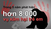 Hơn 8.000 vụ xâm hại trẻ em trong 5 năm