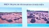 Hình ảnh về hiện trạng di tích khảo cổ Bãi Tiên. Ảnh: TTXVN