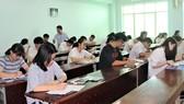 Thí sinh dự thi kỳ thi đánh giá năng lực ngày 7-7 do Đại học Quốc gia TPHCM tổ chức