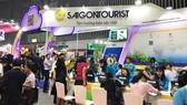 Khách tham quan và làm việc tại gian hàng Saigontourist sự kiện ITE HCMC 2018