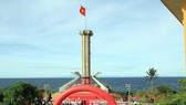 Flagpole is inaugurated on island off Quang Tri province. (Photo: Sggp)