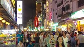 B​ui Vien Walking Street in HCM City's District 1 has become a popular spot for locals and international tourists. (Photo: VNA)