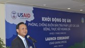 Deputy Minister of Agriculture and Rural Development Ha Cong Tuan speaks at the launch of the USAID Saving Species project in Hanoi on May 11. (Photo: USAID)