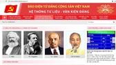 The Communist Party of Vietnam (CPV) Online Newspaper's new website (Photo: tulieuvankien.dangcongsan.vn)