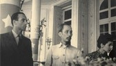 A photo of President Ho Chi Minh when he paid a visit to France in 1946 displayed at the exhibition (Source: VNA)