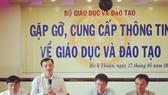 Ông Mai Văn Trinh, Cục trưởng Cục quản lý chất lượng, Bộ GD-ĐT trao đổi thông tin về công tác chuẩn bị kỳ thi tốt nghiệp THPT quốc gia năm 2019