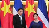 Chủ tịch Quốc hội Nguyễn Thị Kim Ngân và Chủ tịch Hội đồng lập pháp Pornpetch Wichitcholchai