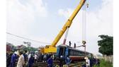 Khắc phục sự cố tàu trật bánh tại ga Yên Viên