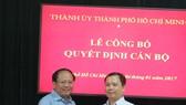 Đồng chí Ma Xuân Việt giữ chức Phó Trưởng ban Tổ chức Thành ủy TPHCM