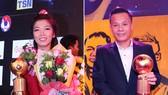 Thành Lương và Huỳnh Như đoạt Quả bóng Vàng Việt Nam 2016