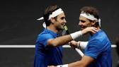 Roger Federer và Rafael Nadal sát cánh cùng nhau lần đầu tiên