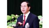 Vietnamese President Tran Dai Quang cables congratulation on he 72th anniversary of Republic of Korea's National Day. (Photo:SGGP)