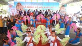 A traditional dance performance of Cham people in the festival