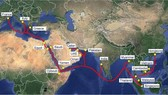 AAE-1 cable system's connecting points. The VNPT plans to offer internet service via AAE-1 submarine cable system in July. (Photo: ictnews.vn)
