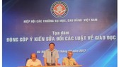 Hiệp hội các trường đại học-cao đẳng Việt Nam đưa ra nhiều đề xuất mới
