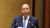 Thủ tướng Chính phủ Nguyễn Xuân Phúc trả lời chất vấn. Ảnh: VGP