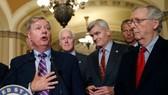 Thượng Nghị sĩ  Lindsey  Graham -đồng bảo trợ dự luật ý tế mới thay Obamacare phát biểu tại Điện Capitol
