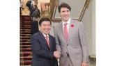Chủ tịch UBND TPHCM Nguyễn Thành Phong tiếp Thủ tướng Canada  Justin Trudeau. Ảnh: THỤY VŨ