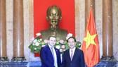 Chủ tịch nước Trần Đại Quang và Bộ trưởng Phát triển Kinh tế Liên bang Nga Maksim Oreshkin. Ảnh: TTXVN