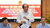 Bộ trưởng, Chủ nhiệm VPCP Mai Tiến Dũng phát biểu tại buổi kiểm tra. Ảnh: VGP