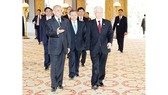Quốc vương Campuchia Norodom Sihamoni đón Tổng Bí thư Nguyễn Phú Trọng