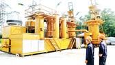 Hệ thống chuyển hóa rác thành khí để tạo ra điện năng tại bãi rác Gò Cát. Ảnh: CAO THĂNG
